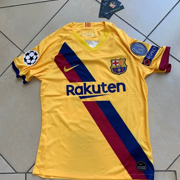 FC Barcelona 2019-2020 Champions League MESSI home jersey size S